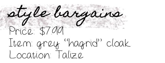 Style Bargain: Hagrid